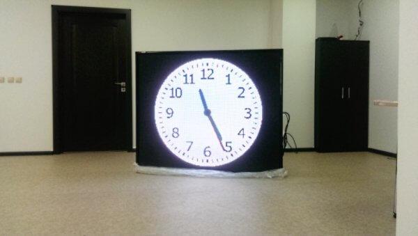 Часы на здание, уличные-электронные с анимацией
