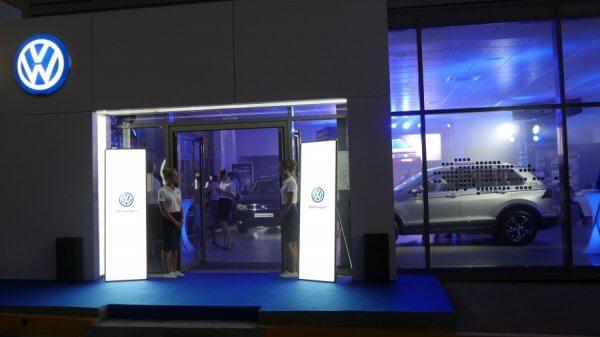 Светодиодные видео панели для презентации Volkswagen