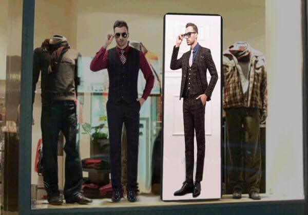 Цветной видео-экран для витрины магазина одежды