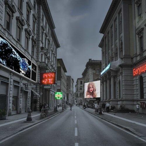 бегущие строки, светодиодные экраны